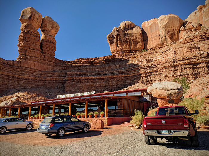 Twin Rocks Cafe and Trading Post in Bluff, Utah