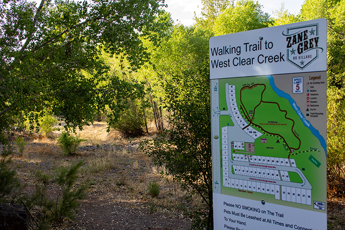 West Clear Creek walking trail map